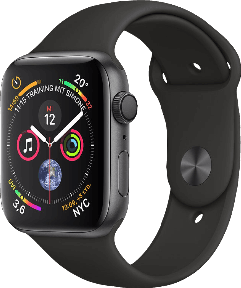 Space Grey / Black Sport Band Apple Watch Series 4 GPS, 44mm.2