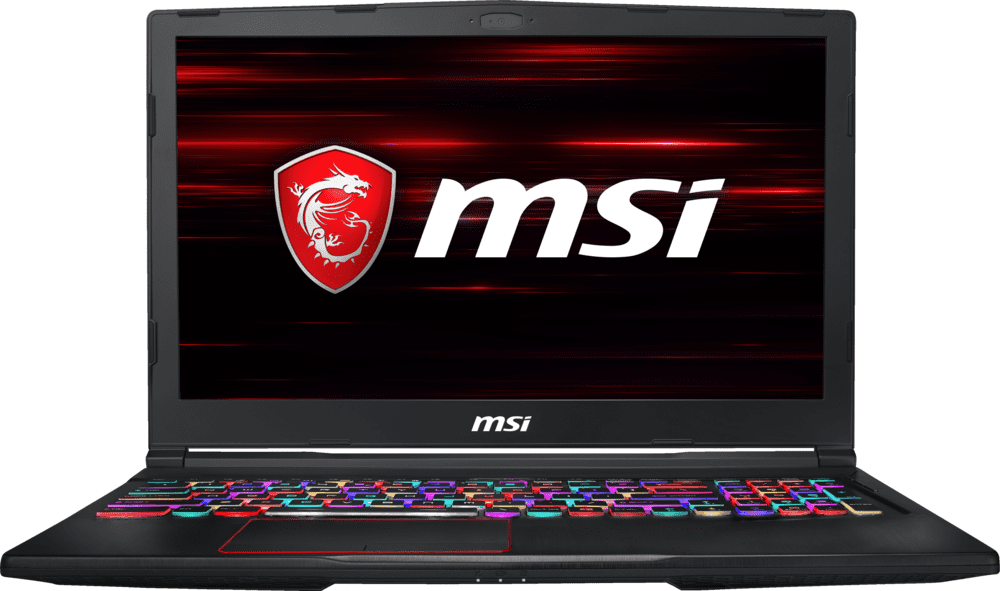 Black MSI GE63 8RF-221DE.1