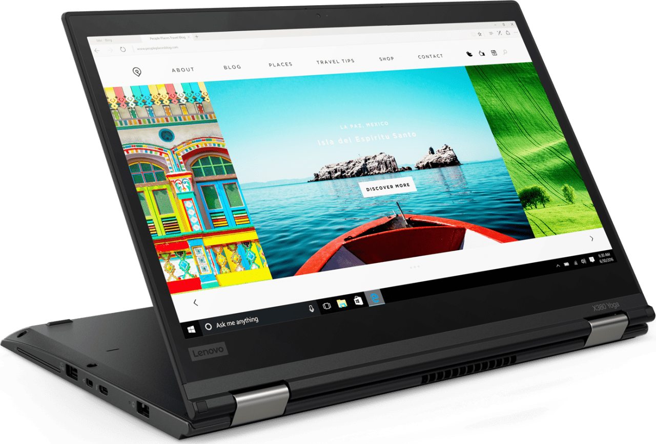 "Black Lenovo ThinkPad X380 Yoga (13.3"").1"