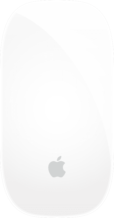 Silber Apple Magic Mouse 2.1