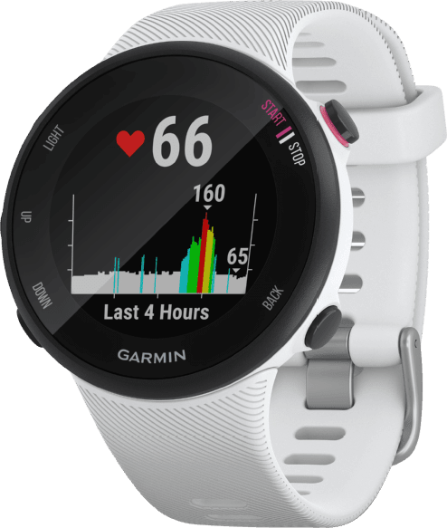 White Garmin Forerunner 45S GPS Sports watch.4