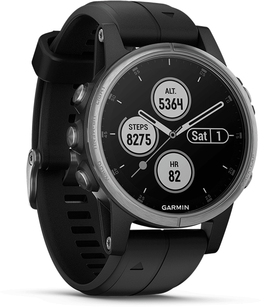 Black Garmin Fēnix® 5S Plus, 20 mm.3
