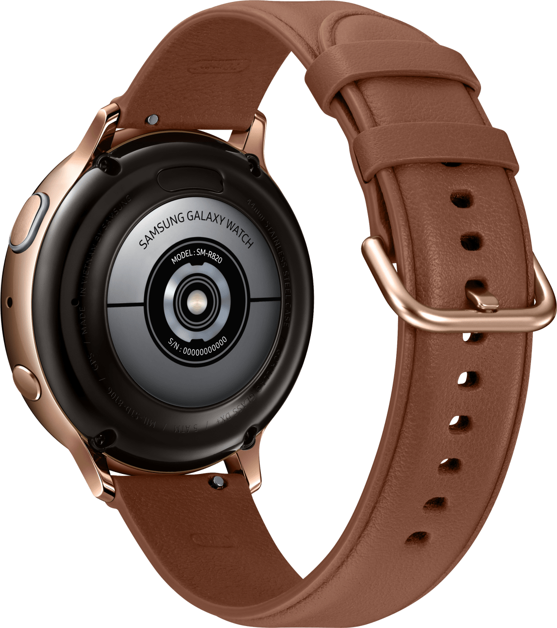 Gold Samsung Galaxy Watch Active2, 44mm.3