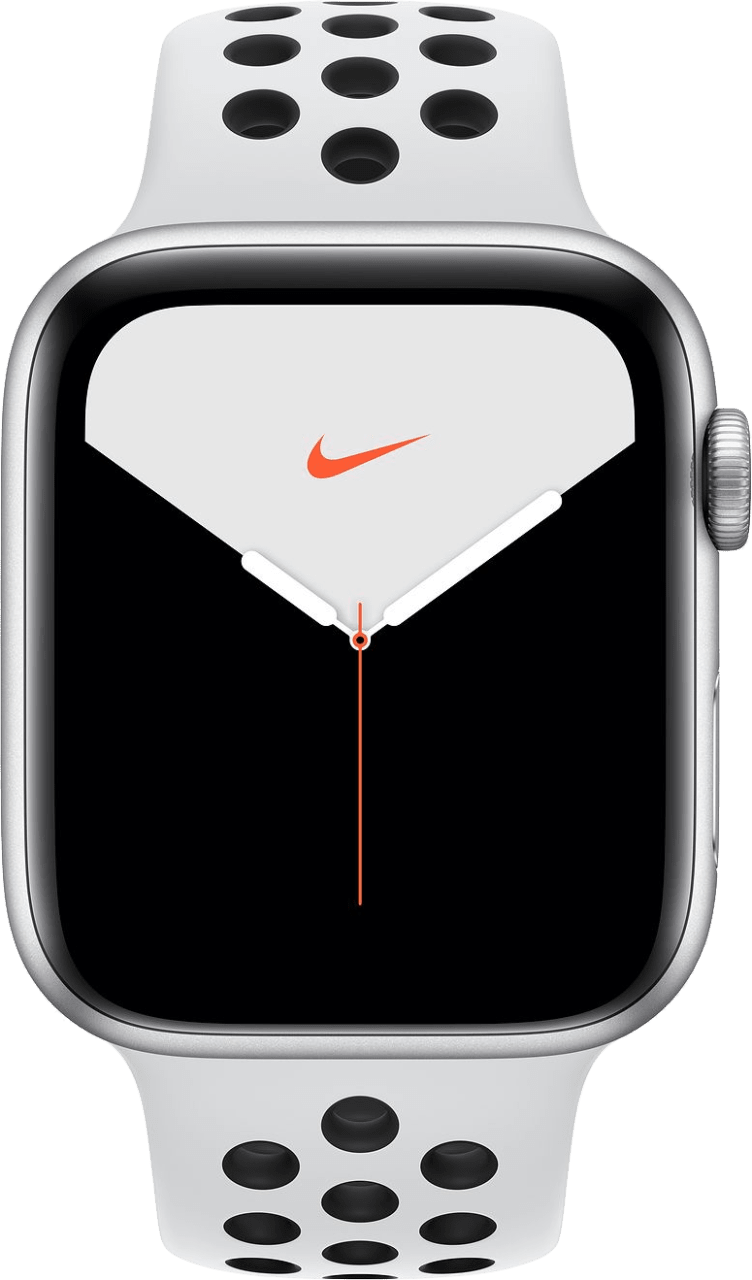 Reines Platin / Schwarz Apple Watch Nike Series 5 GPS + Cellular, 40mm.1