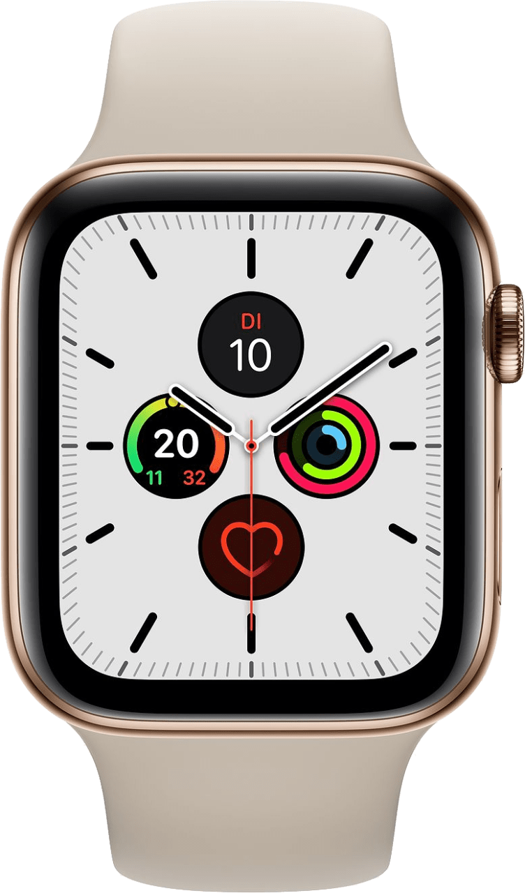 Stone Apple Watch Series 5 GPS + Cellular, 40mm Stainless steel case, Sport band.1
