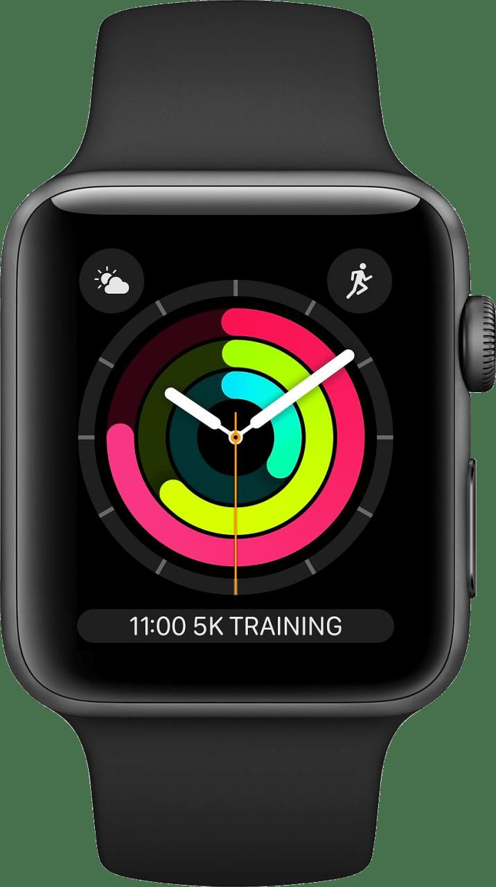 Schwarz Apple Watch Series 3 GPS, 38mm.1