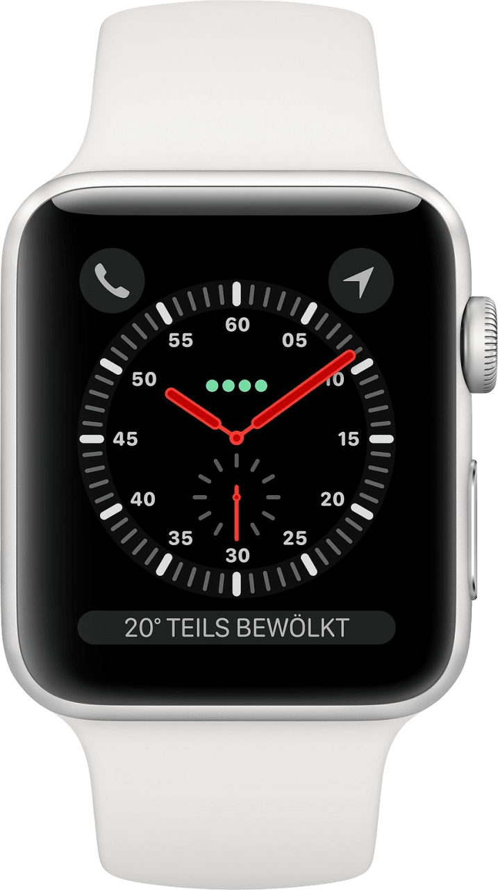 White Apple Watch Series 3 GPS + Cellular, 42mm.1