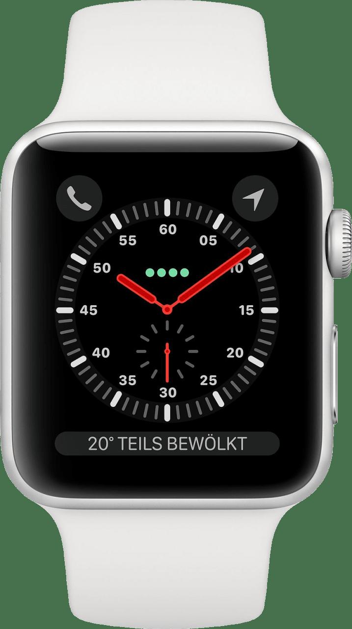 Weiß Apple Watch Series 3 GPS + Cellular, 42mm.1