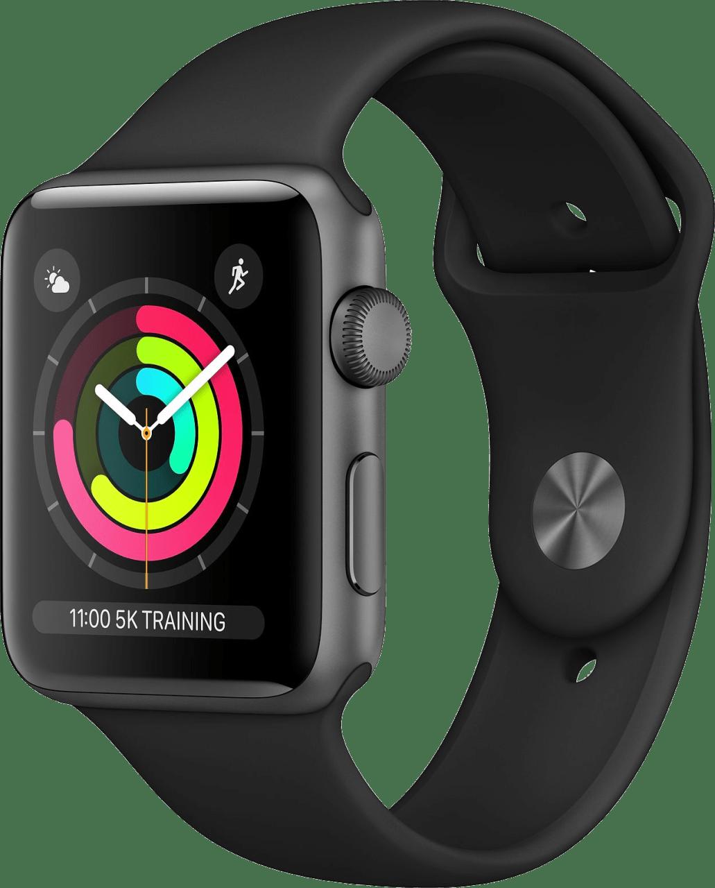 Schwarz Apple Watch Series 3 GPS, 42mm.2