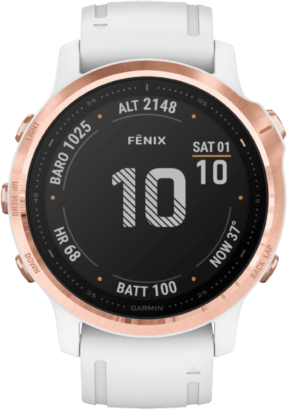 White Garmin Fenix 6s Pro GPS Sports watch.1