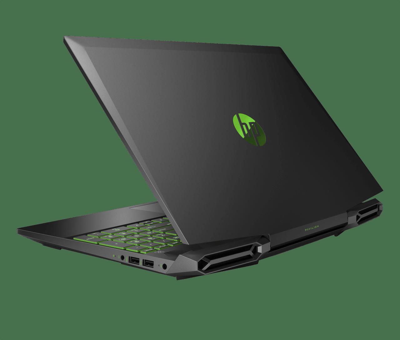 Shadow Black / Acid Green HP Pavilion Gaming 15-dk0006ng.2