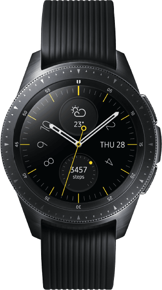 Schwarz Samsung Galaxy Watch, 42mm.1