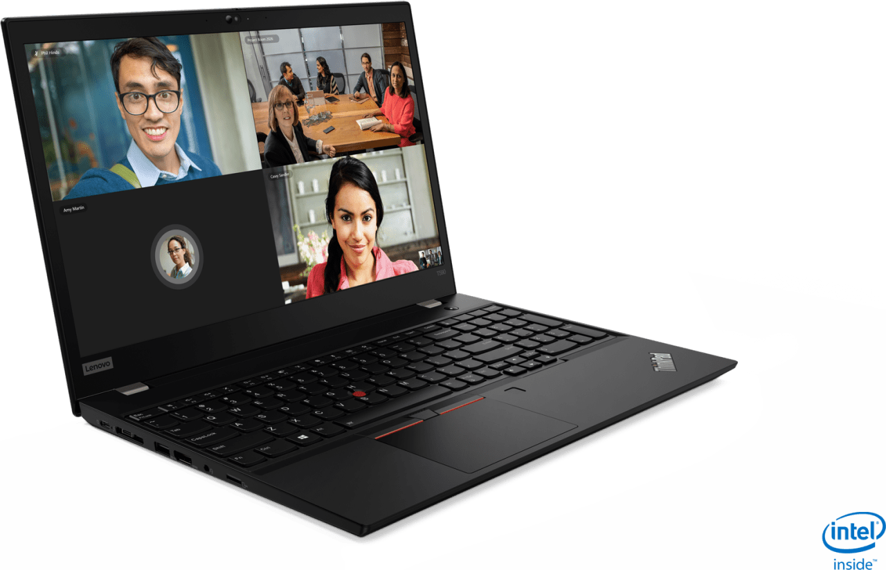 Black Lenovo ThinkPad T590.3