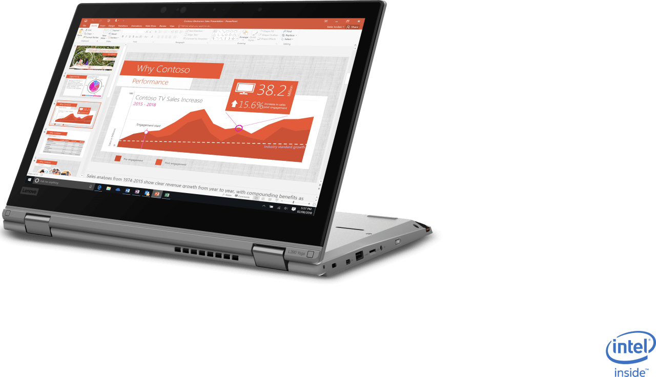 Silber Lenovo ThinkPad L390 Yoga.1