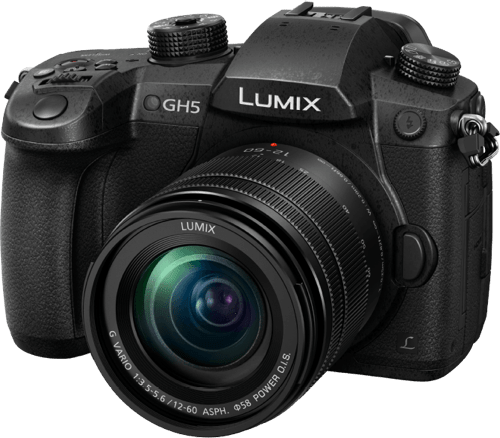 Black Lumix Camera DC-GH5 with Lens 12-60/2.8-4 Leica DG Vario.1
