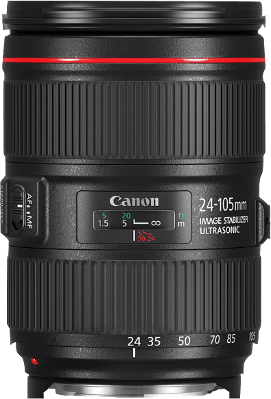 Black Canon lens EF 24-105MM f/4 L IS II USM.1