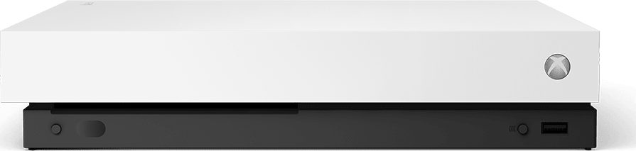 White Microsoft Xbox One X.2