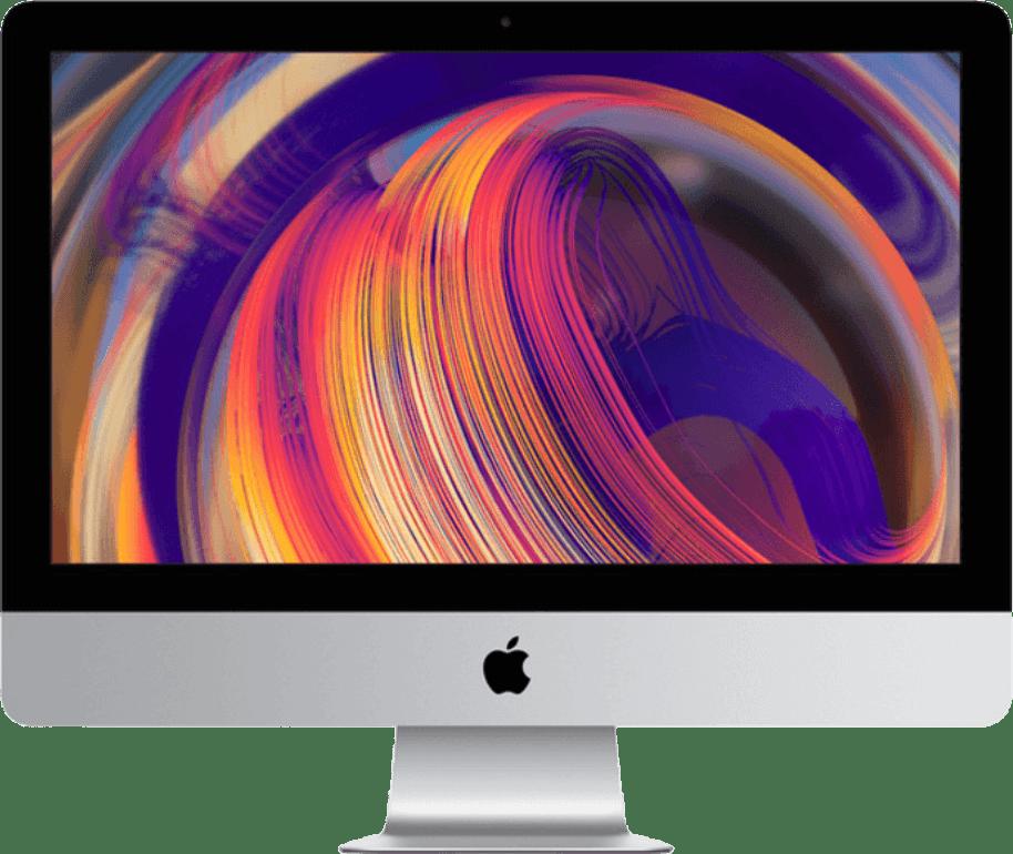 "Silver Apple iMac 21.5"" Retina 4K (Early 2019) - English (QWERTY).1"