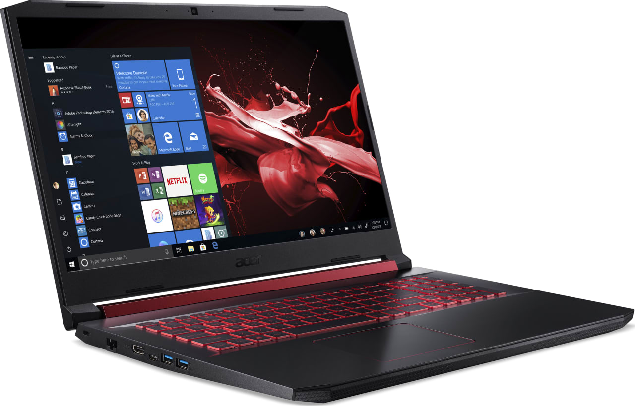 Black / Red Acer Nitro 5 AN517-51-56EU.3