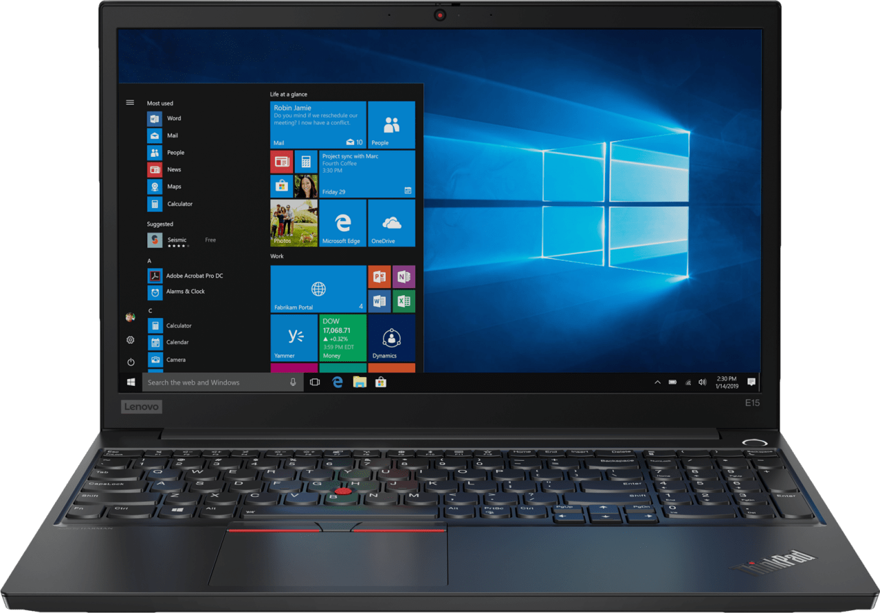 Schwarz Lenovo ThinkPad E15.1