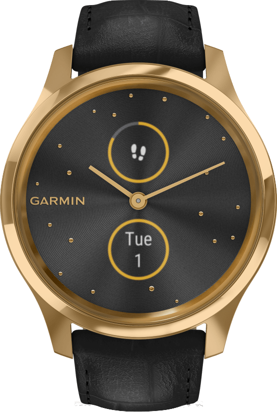 Black Garmin Vivomove Luxe, 42mm.1