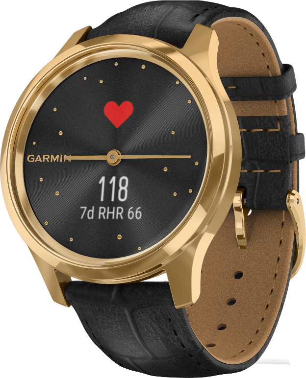 Black Garmin Vivomove Luxe, 42mm.3