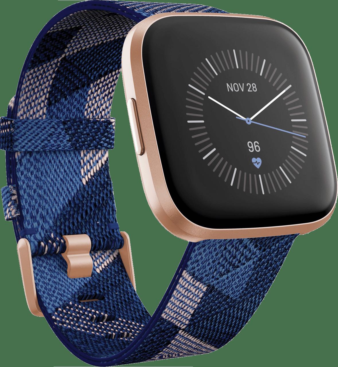Navy blue/Pink Fitbit Versa 2 SE Smartwatch.1