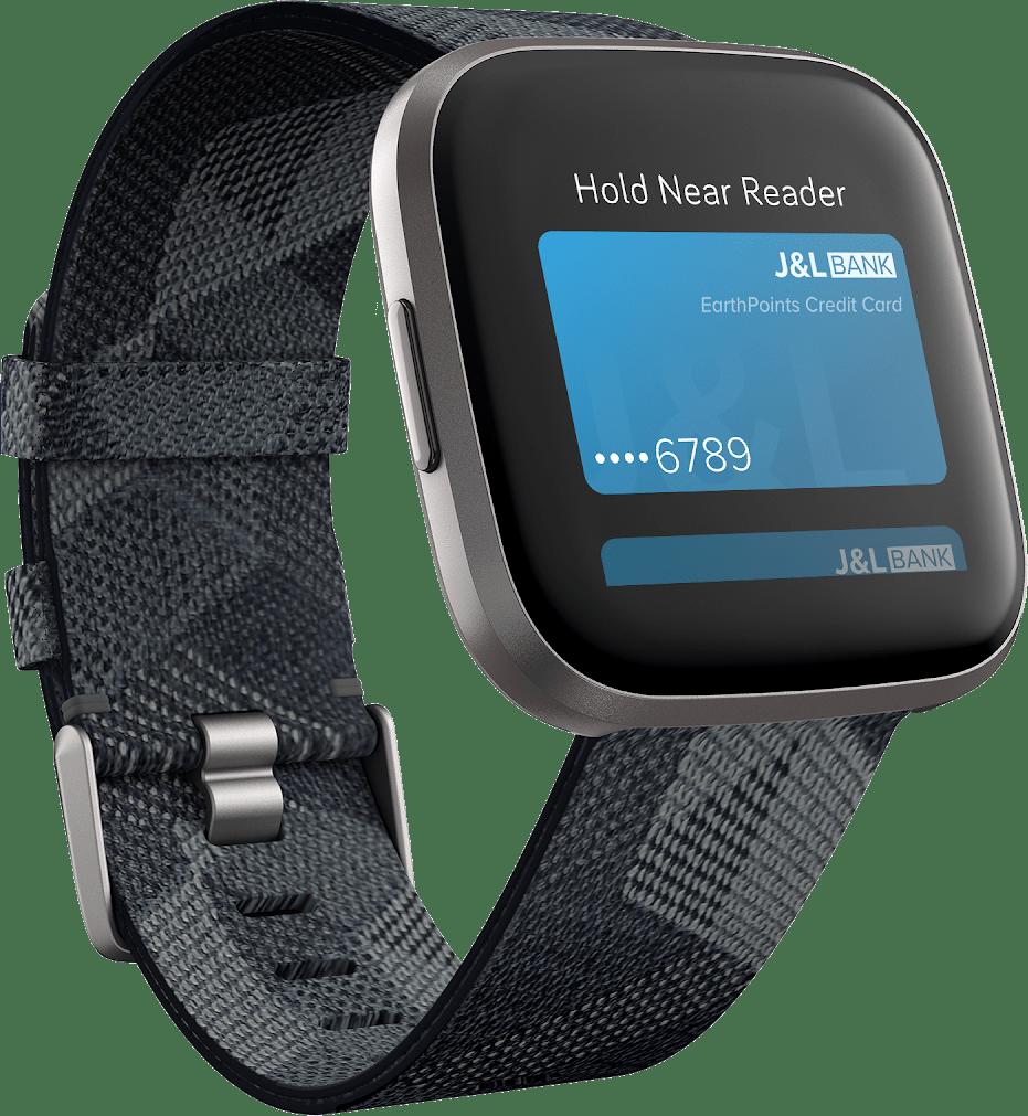 Smoke Woven Fitbit Versa 2 SE Smartwatch.3