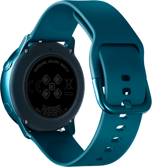 Green Samsung Galaxy Watch Active, 40mm Aluminium case, Silicone band.3