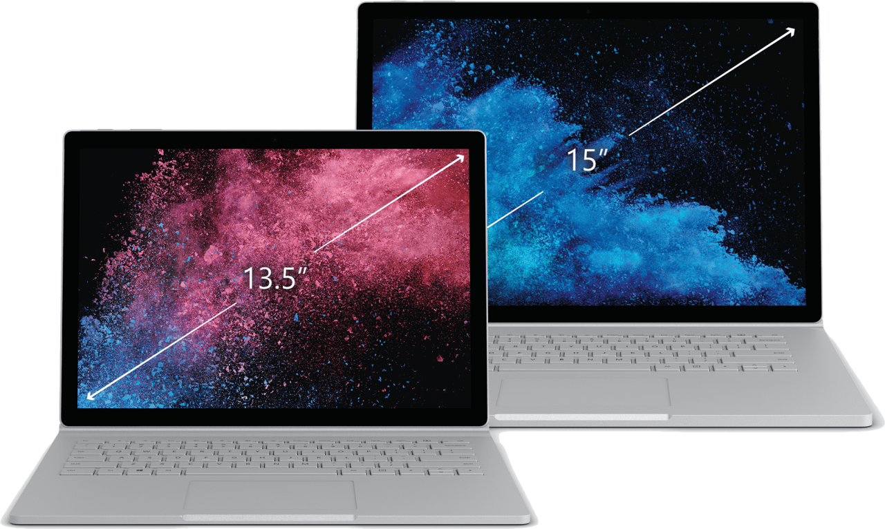 "Silver Microsoft Surface Book 2 15"".4"
