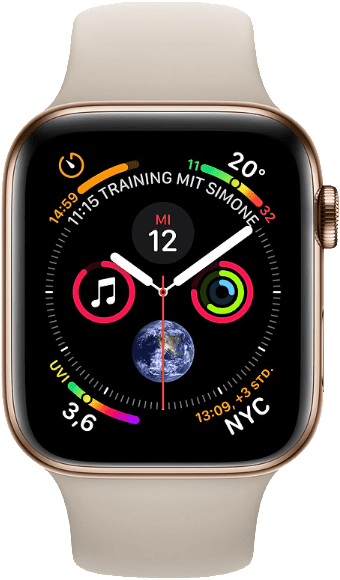 Stone & Gold Apple Watch Series 4 GPS + Cellular, 44mm Stainless steel case, Sport loop / band.1