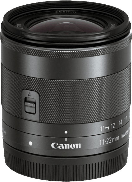 Black Canon EF-M 11-22mm f/4-5.6 IS STM.1