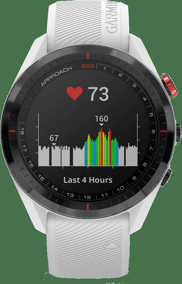 Weiß Garmin Approach® S62 GPS Premium Golf GPS-Uhr.2