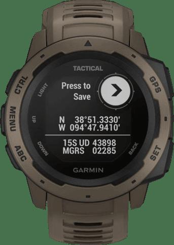 Braun Garmin Instinct® - Tactical Edition GPS-Sportuhr.4