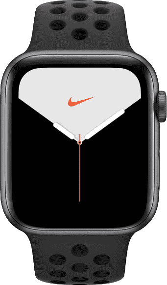 Anthrazit / Schwarz Apple Smartwatch Apple Watch Nike Series 5 GPS, Space Grey Aluminum Case with Sport Band, 44mm.1