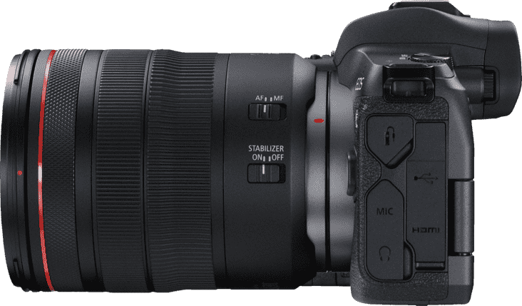 Schwarz CANON EOS R Kit with RF24-105MM F4.0 and EF-EOS R Adapter.3