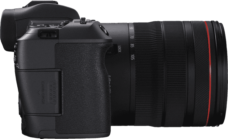 Black CANON EOS R Kit with RF24-105MM F4.0 and EF-EOS R Adapter.4