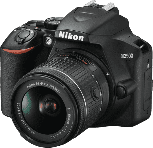 Black Nikon D3500 Kit AF-P DX 18-55 mm VR.1