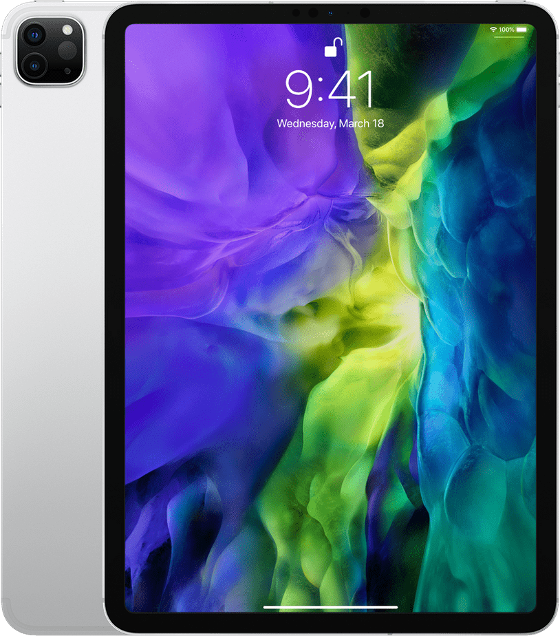 "Silver Apple 11"" iPad Pro Wi-Fi + LTE 256GB (2020).1"