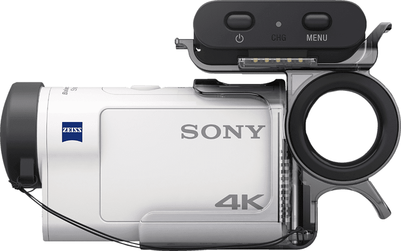 White Sony FDR-X3000R with Live-View-Remote.3