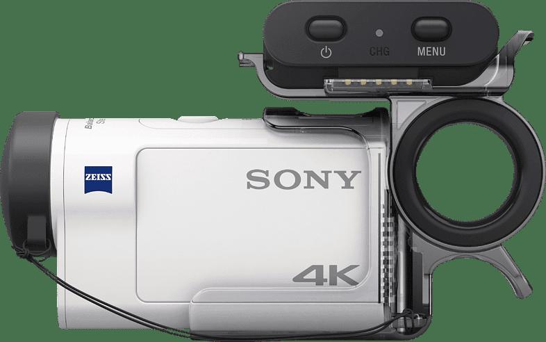 Weiß Sony FDR-X3000R mit Live-View-Fernbedienung.3