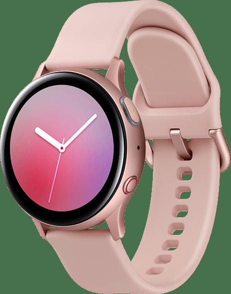 Roségold Samsung Galaxy Watch Active2 LTE, 40 mm Aluminium-Gehäuse, Sportarmband.2