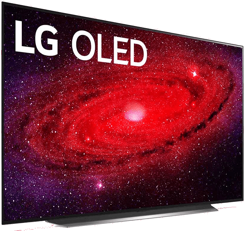 "Black LG TV 65"" CX.3"