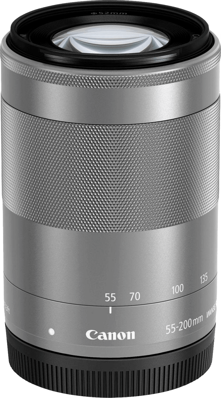 Silber Canon EF-M 55-200/4.5-6.3 IS STM Lens.1