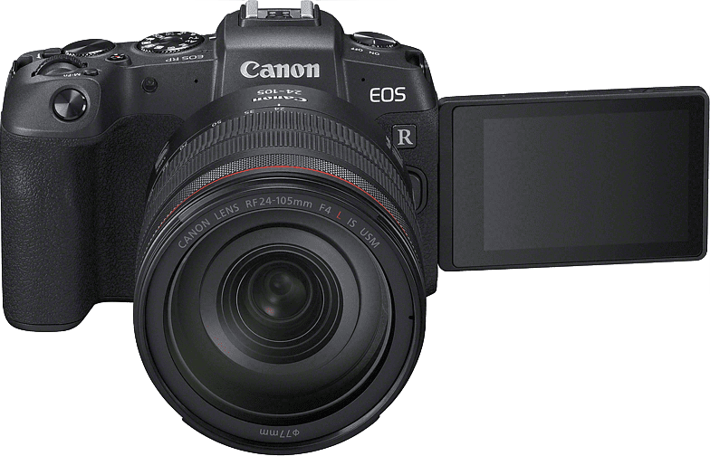 Schwarz Canon EOS RP Body + RF 24 - 105mm IS USM Lens.2