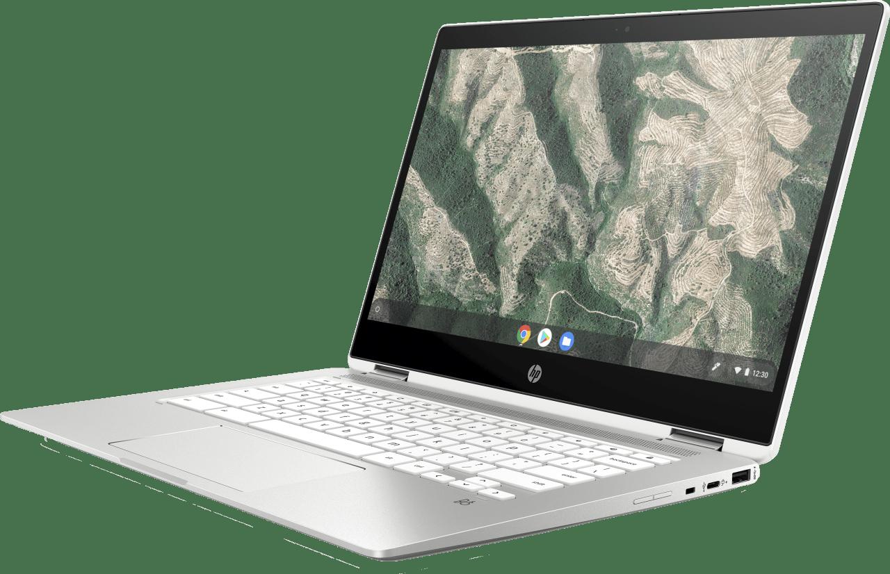 Natural Silver HP Chromebook 14b-ca0250ng Laptop - Intel® Pentium® Silver-N5000 - 8GB - 128GB eMMC - Intel® UHD Graphics.3