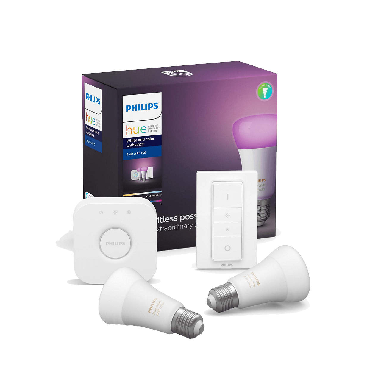 White Philips Hue White & Color Ambience Starter Kit.1