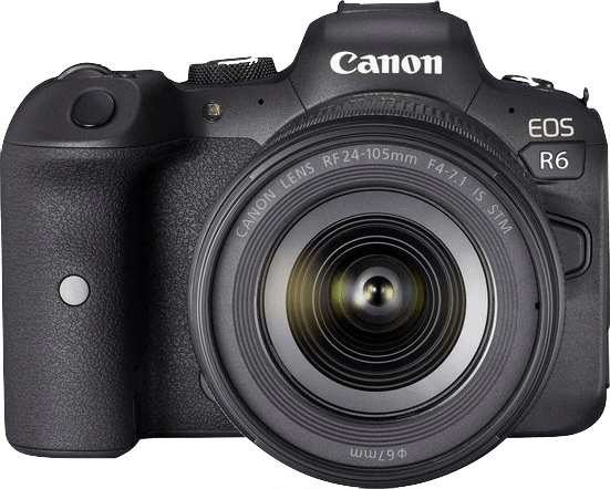 Black Canon EOS R6 + RF 24 - 105mm Lens Kit.1