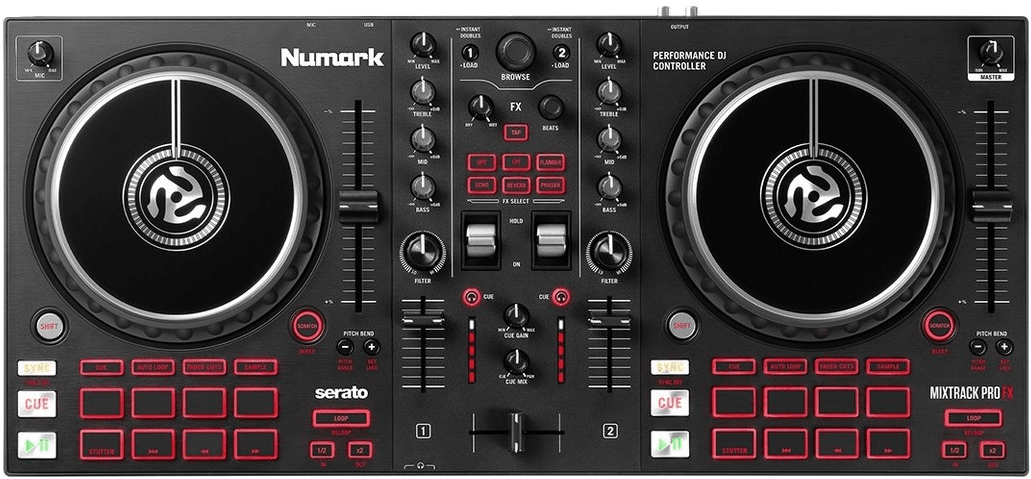 Black Numark Mixtrack FX Pro DJ controller.4
