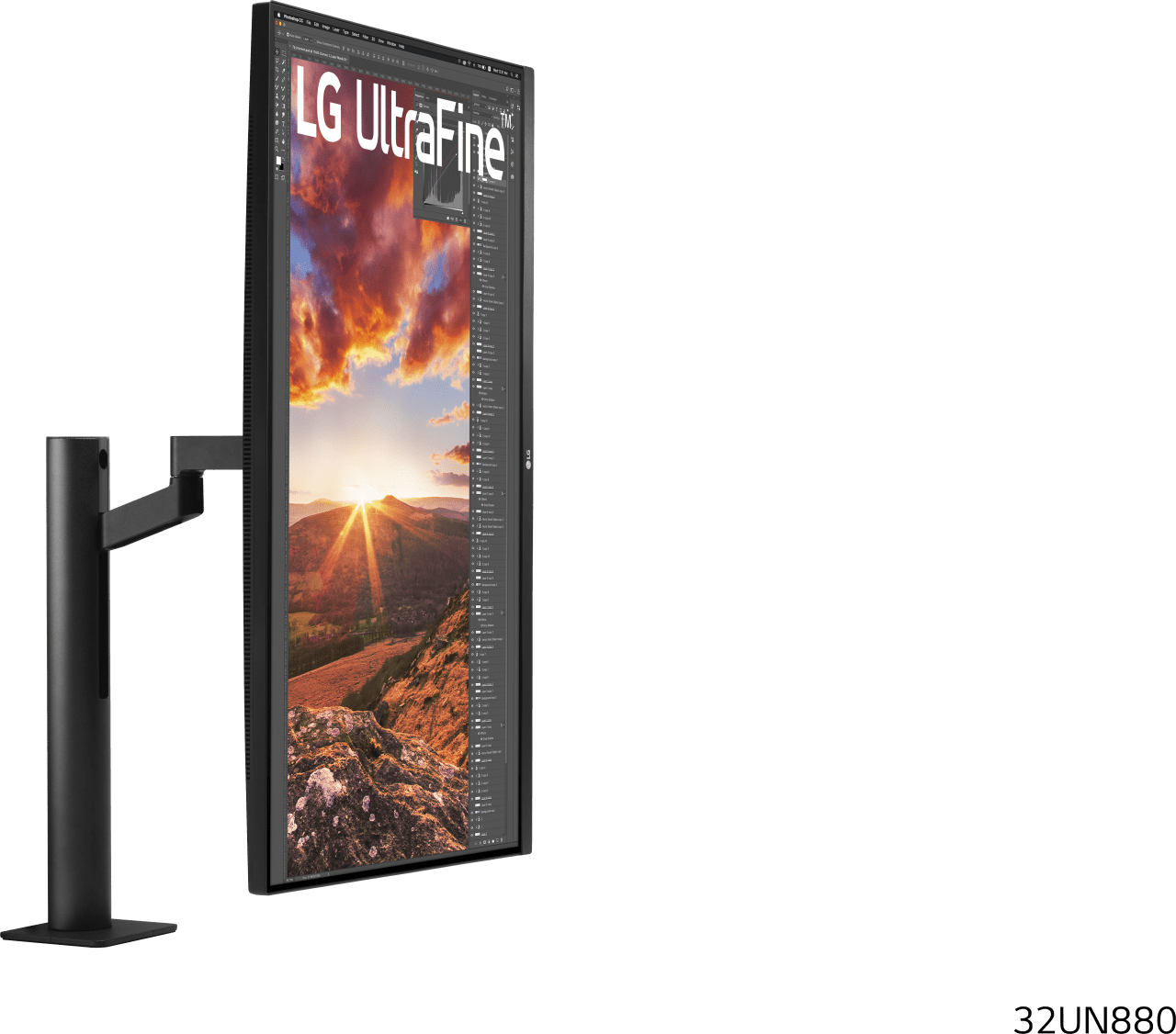 "Mate Black LG - 32"" UltraFine™ Ergo 32UN880.2"